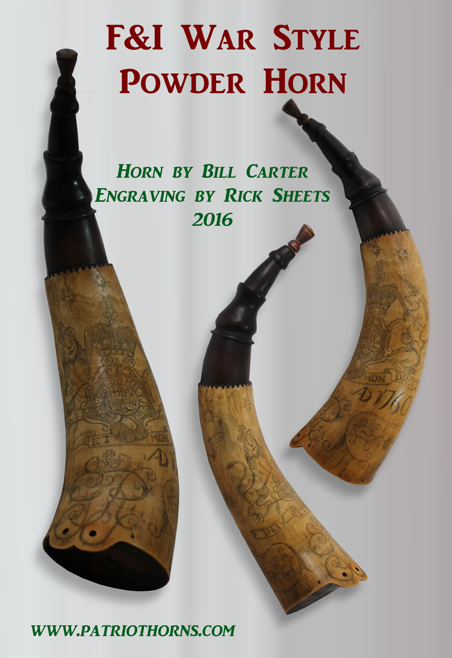 William Carter and Rick Sheets F&I War powder horn