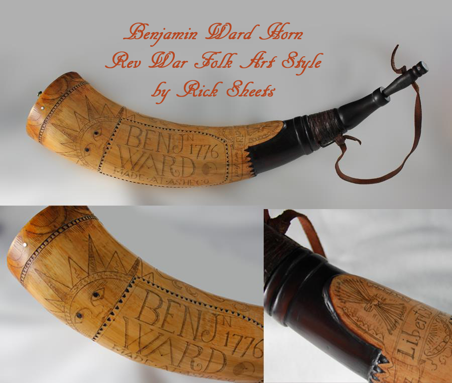 Benjamin Ward 1776 Powder Horn
