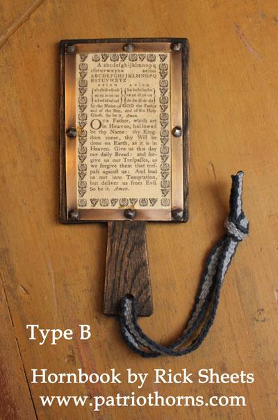 Hornbook Type B